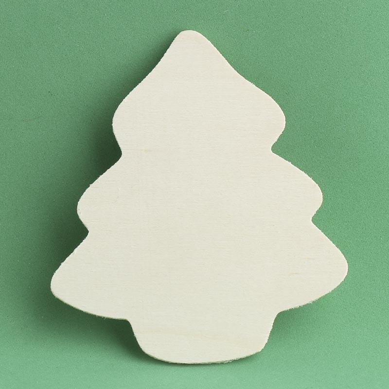 Unfinished wood tree cutout holiday wood cutouts for Wooden christmas cutouts