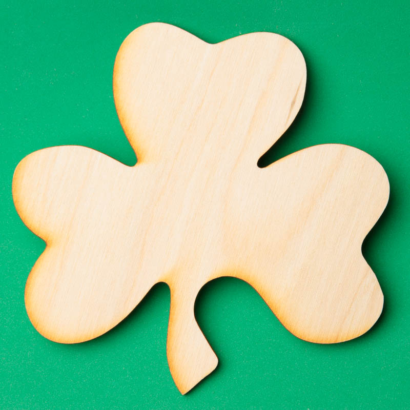 Unfinished wood shamrock cutout wood cutouts for Wood cutouts for crafts
