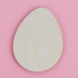 Unfinished Wood Egg Cutout