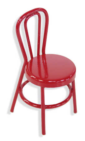 miniature red retro cafe chair what 39 s new dollhouse