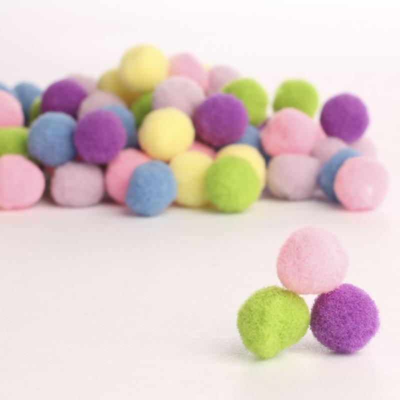 Assorted pastel craft pom poms craft pom poms kids for Where to buy pom poms for crafts