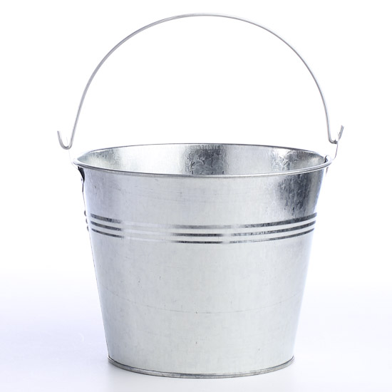 Galvanized metal pail decorative containers kitchen for Galvanized well bucket