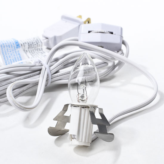 white electric clip in cord set light kits and parts
