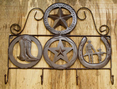 Rustic Metal Western Hook Hanger Western Decor Home Decor