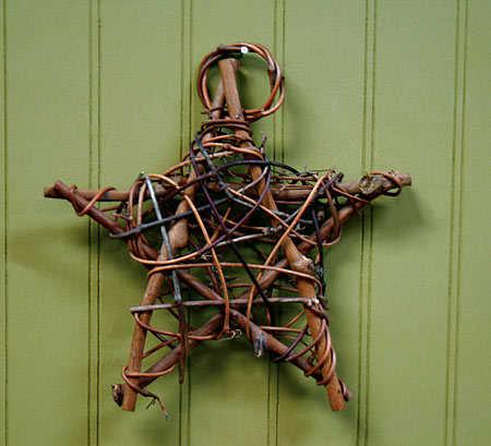 Natural Grapevine Twig Star Wall Art Primitive Decor