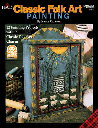 Pin decorative painted wood projects tole painting by for Folk art craft paint