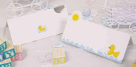 24 Rubber Ducky Baby Shower Place Cards - Baby Shower Tableware ...