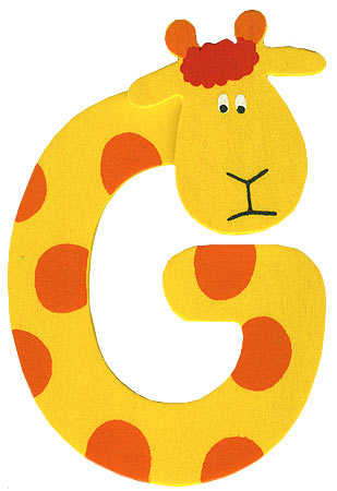 "animal letter ""g"" - scrapbooking - craft supplies"