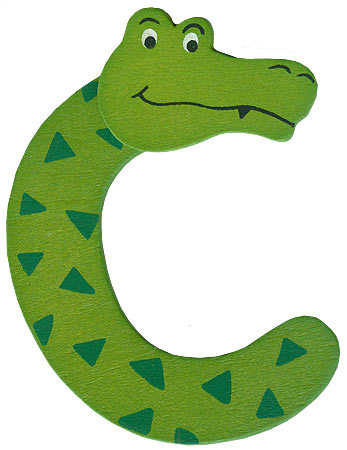 "animal letter ""c"" - scrapbooking - craft supplies"