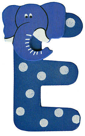 "animal letter ""e"" - scrapbooking - craft supplies"