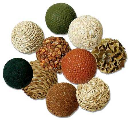 Natural Decorative Balls Pleasing Pkg Of 10 Dried Natural Botanical Decorative Mini Balls  Vase Review