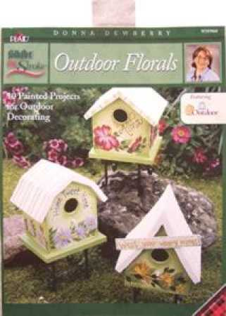 One Stroke Outdoor Floral Donna Dewberry Painting Book Brushes