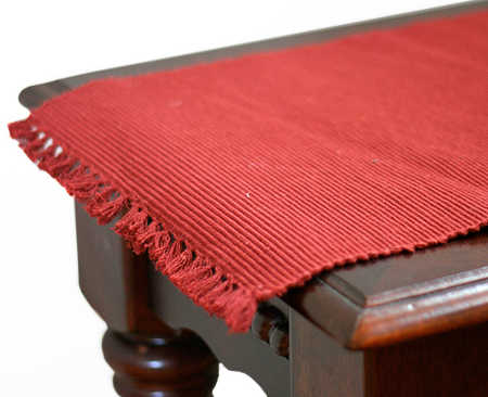 36 country ribbed red table runner textiles and linens home decor