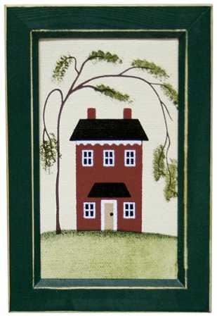 Primitive Saltbox House Canvas Home Decor
