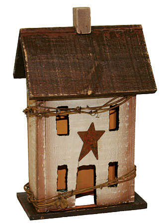 12 Quot Primitive Electric Saltbox House Candle Lamp