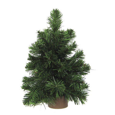 12 Quot Mini Pine Christmas Tree With Wood Base Trees And
