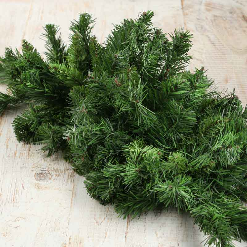 Artificial canadian pine swag greenery