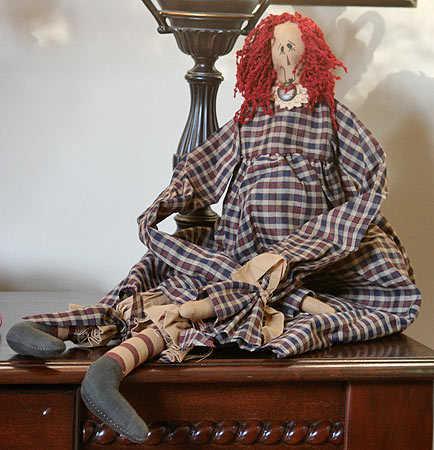 26 Quot Annabelle Primitive Rag Doll Primitive Dolls