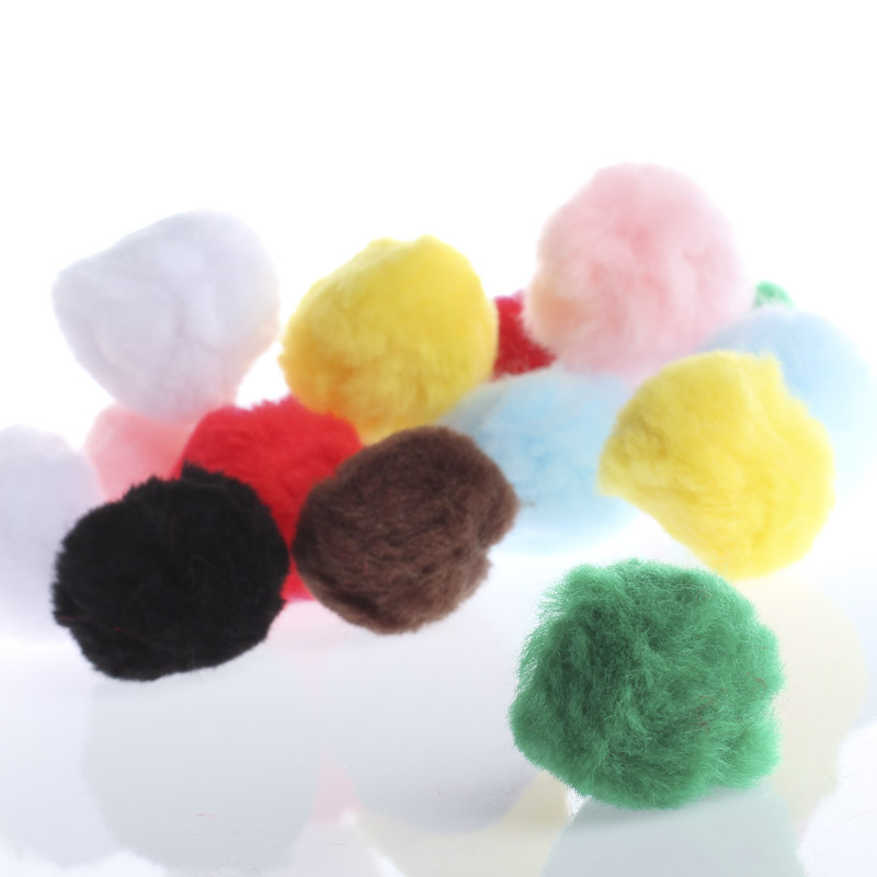 bulk bag 1 1 2 multi craft pom poms 50pcs craft pom