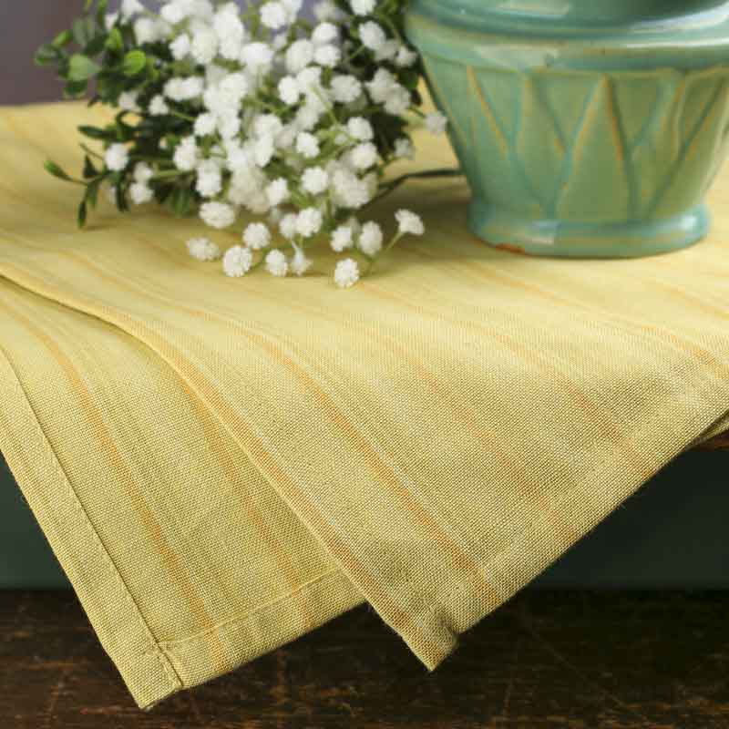 Buttercream Striped Country Dish Towel
