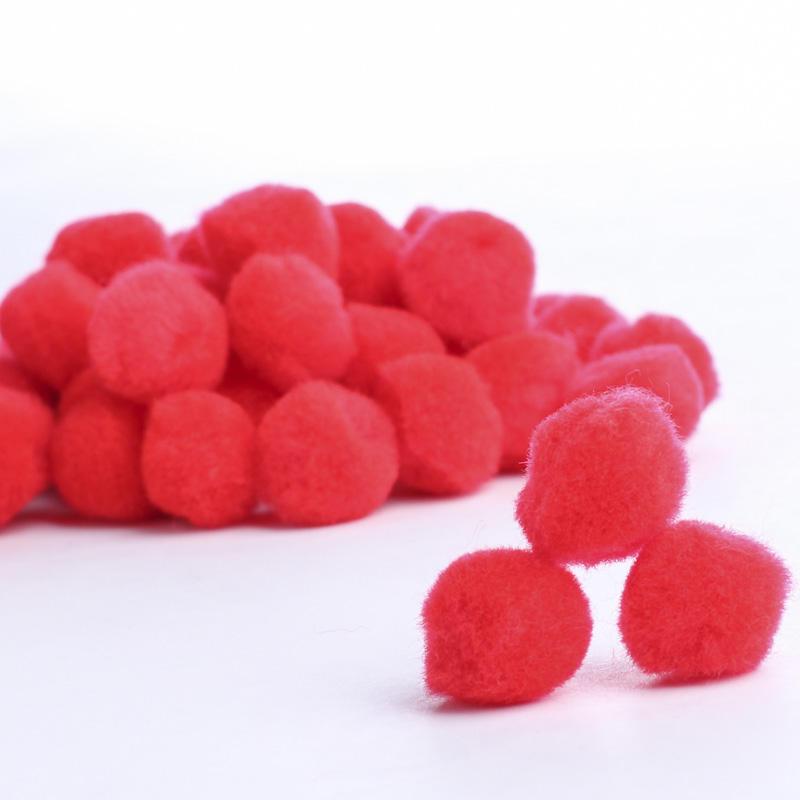 Red craft pom poms pom poms basic craft supplies for Pom pom crafts