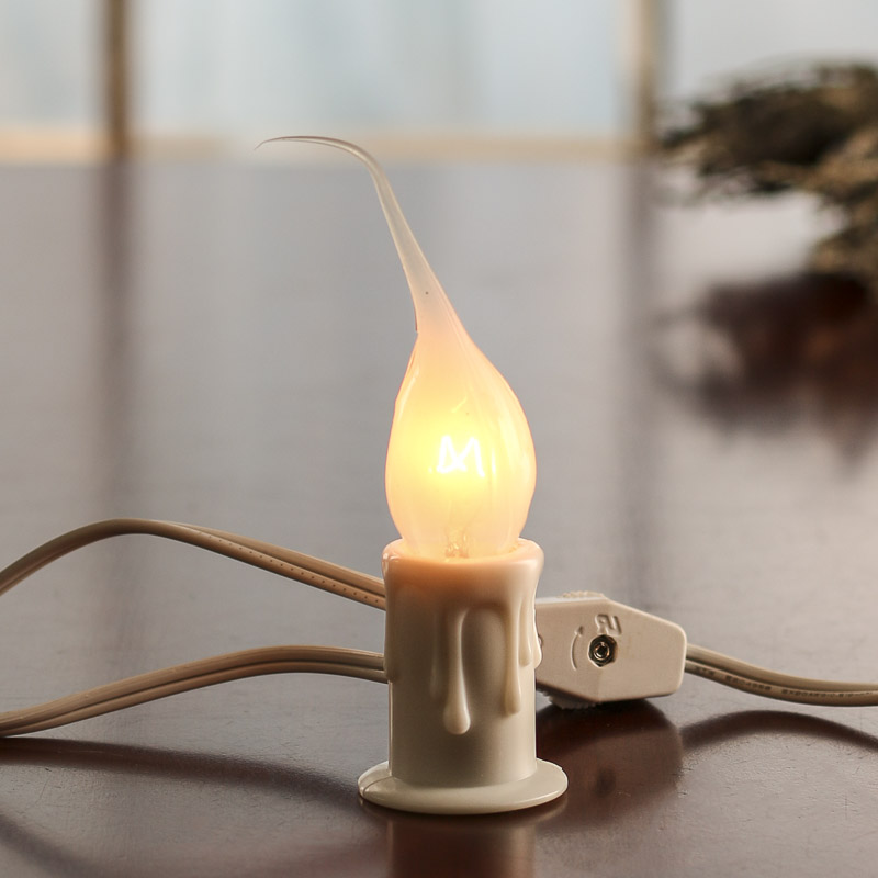 white electric welcome candle lamp - lighting