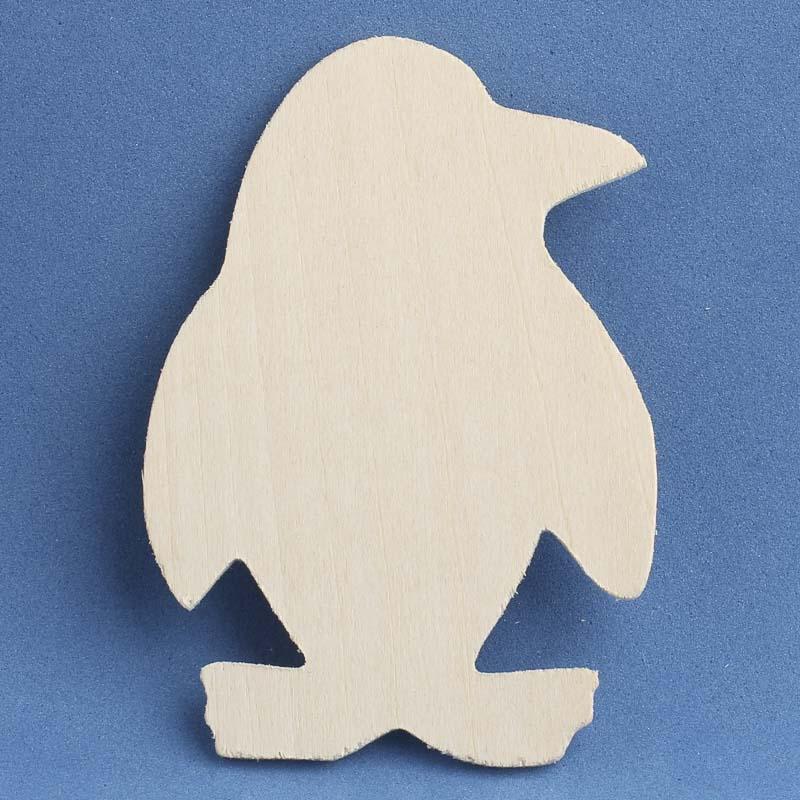 Unfinished wood penguin cutout wood cutouts unfinished for Wood cutouts for crafts