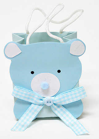 blue baby bear favor bags gift bags favor bags party supplies