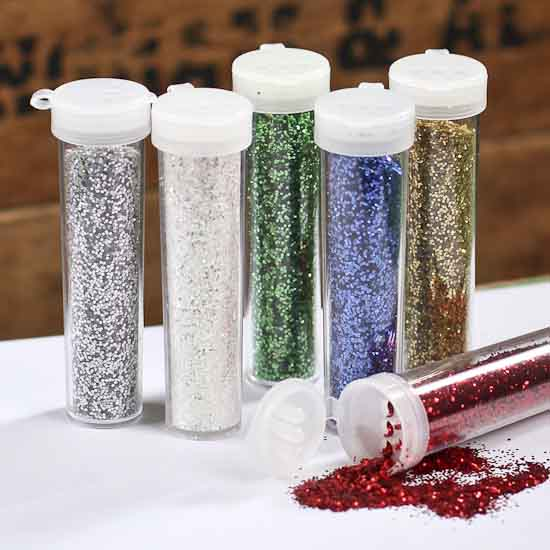 Assorted flip top craft glitter tubes confetti table for Spray glitter for crafts
