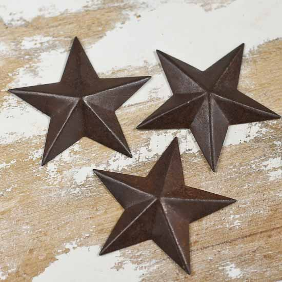 Miniature Rustic Tin Barn Stars - Rusty Tin Cutouts - Basic Craft ...