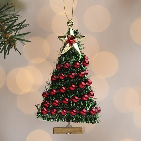 Miniature christmas tree ornament christmas miniatures for Garland christmas tree craft