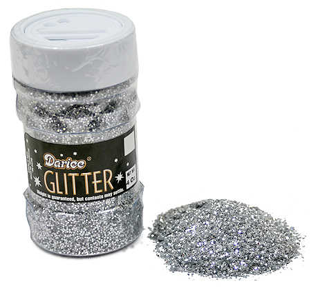 Silver sparkle craft glitter confetti table scatters for Spray glitter for crafts