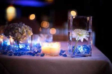 Wedding Centerpieces With Submersible Lights : Battery-Operated Submersible Tea Light Candles - Wedding Lights ...