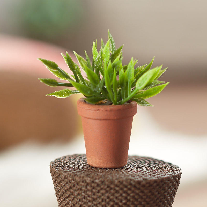 Dollhouse Miniature Artificial Potted House Plant Dining