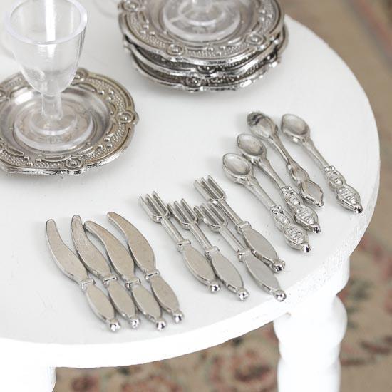 Dollhouse Miniature Silverware Set Kitchen Miniatures