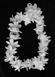 Flower Factory on Cream Plumeria Faux Flower Lei   Silk Rose Petals   Leaves   Bridal