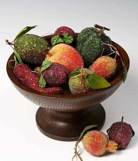 Beaded tiffany glass style fruit veggie assortment