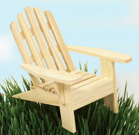 Item# 913267. Small Unfinished Wood Adirondack Chair ...