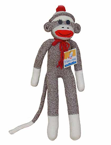 Medium Original Rockford Red Heel Sock Monkey Socks - Doll ...