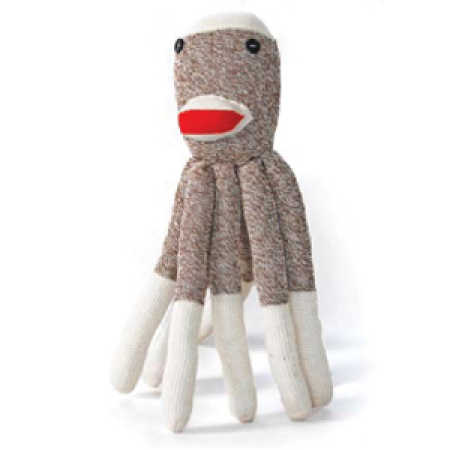 Large Original Rockford Red Heel Sock Monkey Socks - Doll ...