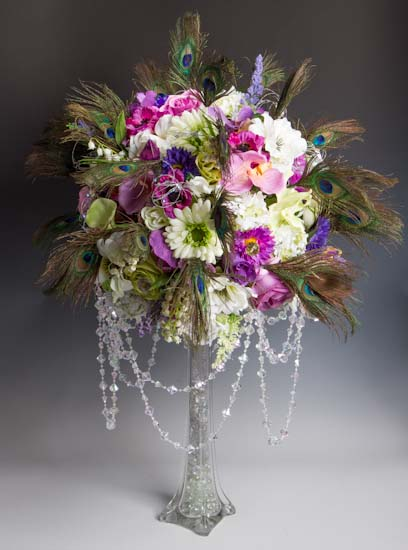 12 Clear Glass Eiffel Tower Vase Floral Design