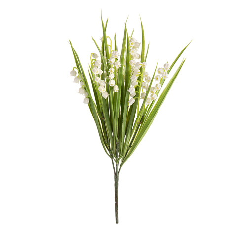 Lilyofthevalley Flowers on Artificial Silk Ivory Lily Of The Valley Flower Pick   Wedding Florals