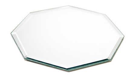 8 octagon beveled glass mirror centerpiece mirrors for Octagon beveled mirror