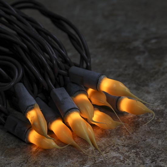 Mini Silicone String Lights : Primitive Silicone Dipped Bulb and Brown Cord String Lights - String Lights - Lighting ...