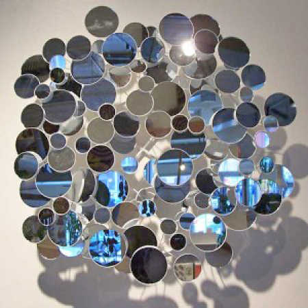 Assorted round mosaic tile mirrors mirrors party for Mosaic tile for crafts