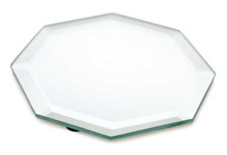 Octagon beveled mirror centerpiece mirrors party for Octagon beveled mirror
