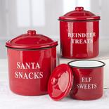Christmas Snack Enamelware Canister Set