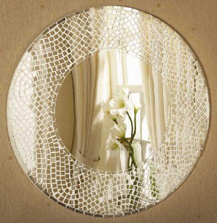 1 square glass mosaic tile mirrors 14pcs centerpiece for Mosaic mirror