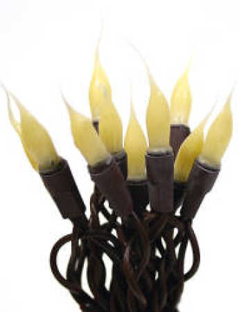 Primitive Silicone Dipped Bulb and Brown Cord String Lights - Lighting - Christmas and Winter ...
