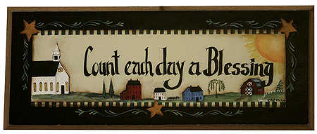 Count Each Day A Blessing Wooden Wall Sign Signs And Frames